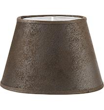 Lampeskjerm Oval Skinn Brun