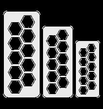 Geometrischer Mulitschneider Hexagon 3 Stück