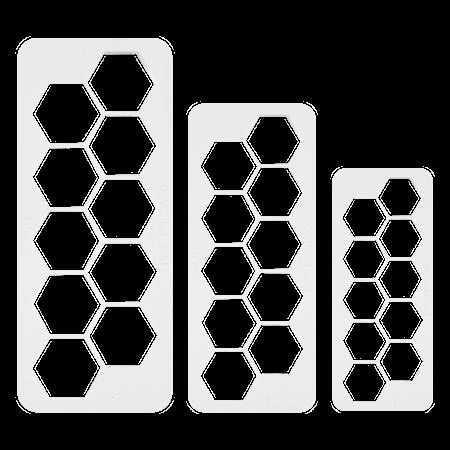 Geometrisk Multiskärare Hexagon 3 st