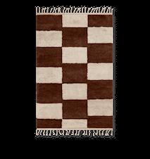 Mara Knotted Matta Large Dark Brick/Off-White
