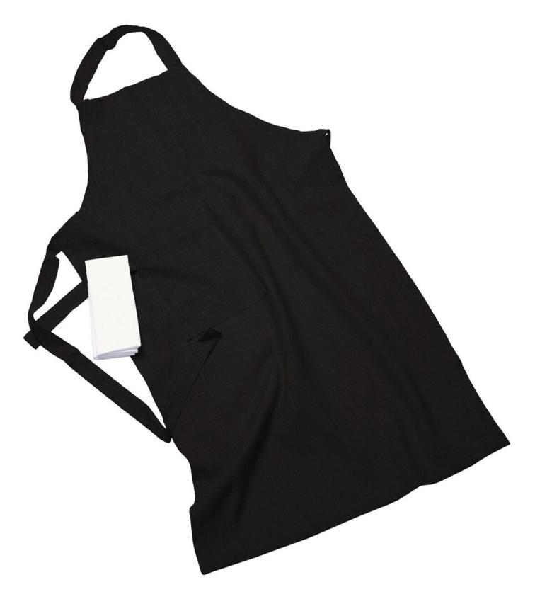 Erik classic lång förkläde – Med handduk graphite
