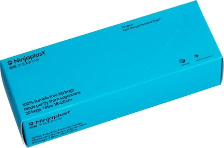 Zip-poser, fossilfrie 1L 20-pack