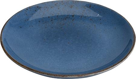 Tallerken, Steintøy, 20,5 cm, mørkeblå