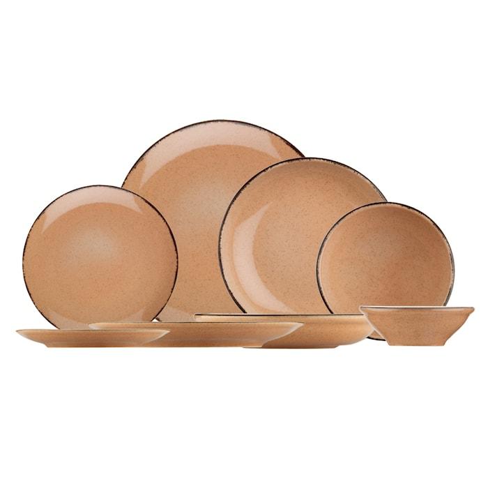Porslinsset 24 Delar Terracotta