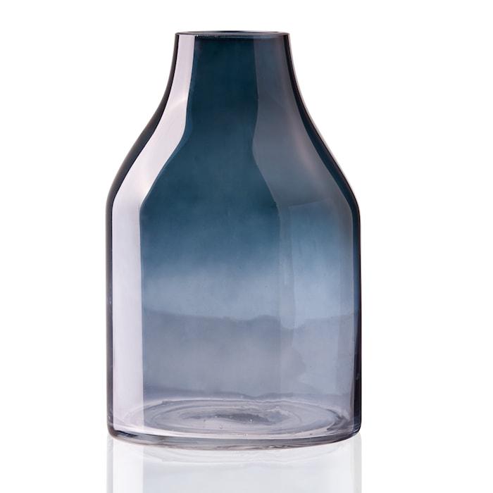 Mellan Vas Lång Hals 25,5cm Blå