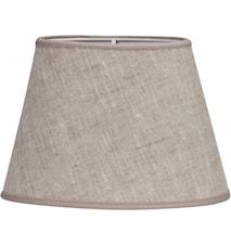 Ovaali lampunvarjostin Pellava Vaaleanruskea 20 cm