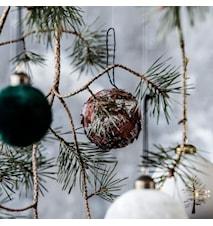 Joulukuusipallo Rind glitter Small
