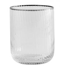 RILLY drikkeglas, sølv rem