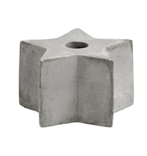 Candle Holder Cement Star Small