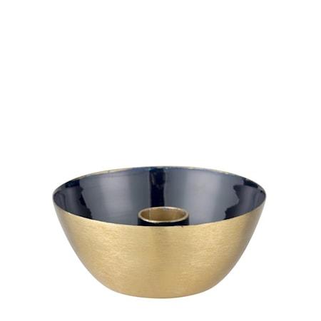 Ljusstake Nara 45 cm Svart/Guld