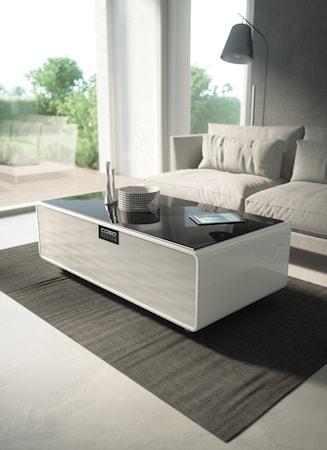 Sound&Cool - Lounge-pöytä kaiutinpalkilla ja tupla kylmätilalla
