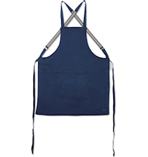 Suspender Apron Dark Blue
