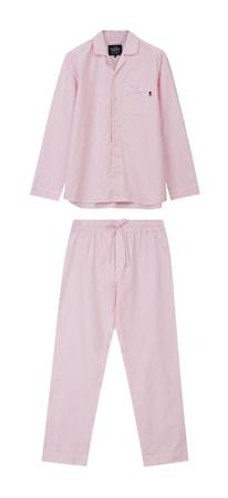Organic Pyjamas Pink/Vit Large