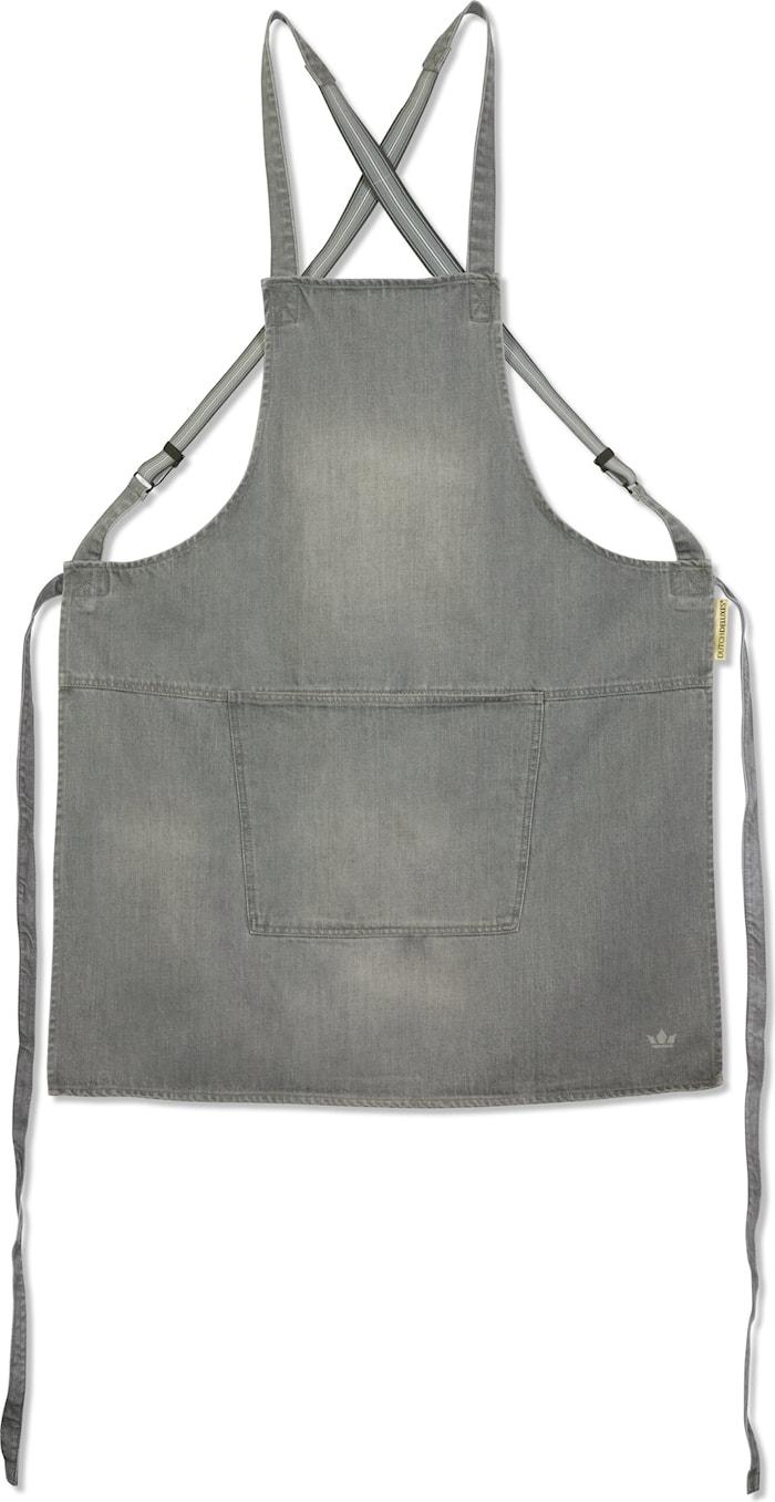 Suspender delantal gris