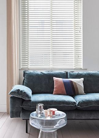 Retro Sofa Fløjl 3-pers Blå