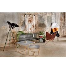 Stella Toppskiva, satsbord, grått betongglas (set om 2)