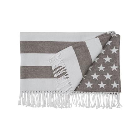 Baby Flag Filt Grå 90x120cm
