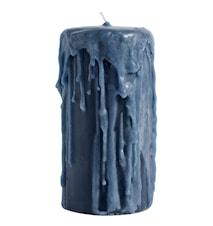 Bloklys Ø 8x15cm - Blå