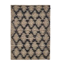 Teppich Harlekin 85x130 cm Schwarz / Natur