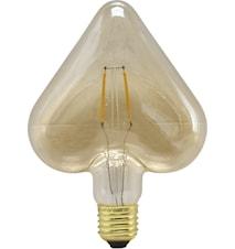 Shaped LED Filament Guld Hjärta