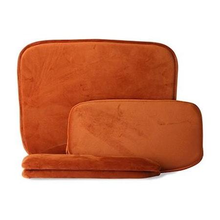 Kuddar för Wire stol med armstöd Sammet Orange