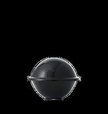 Chapeau Godteriskål Munnblåst Glass Svart Ø16 cm