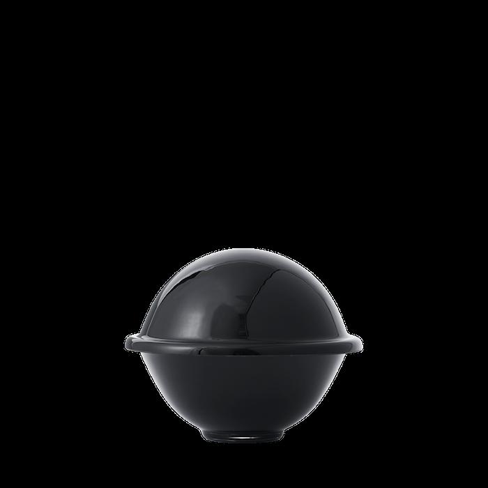 Chapeau Makeiskulho Suupuhallettu lasi Musta Ø16 cm