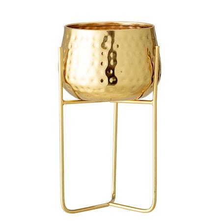 Blomsterkrukke Guld Metal 23 cm