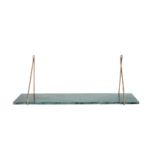 Shelf, Marble, Green marble, 24x70 cm, Without brackets