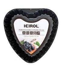 Tærteform lille hjerte 12 cm