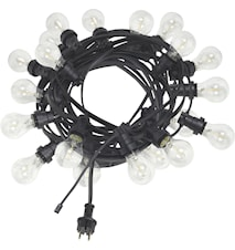 Bright light string med ljuskälla klar 12m