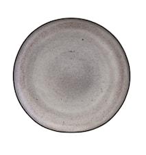 Handgemachter Teller Stone Grau