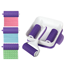 Pattern Roller 3 pieces White/Purple