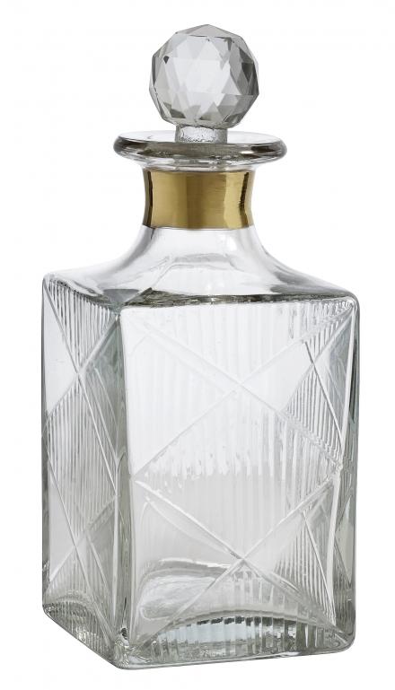 Karaff Glas Guldband Small