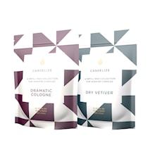 Doftljus Refill Dry Vetiver/ Dramatic Cologne 2-Pack
