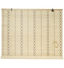 Rullegardin bambus 120x160 cm - Natur