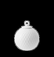 Rhombe Dekorationskugle Ø7 cm Hvidt Porcelæn