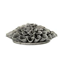 Decorative Flower Stone Grey