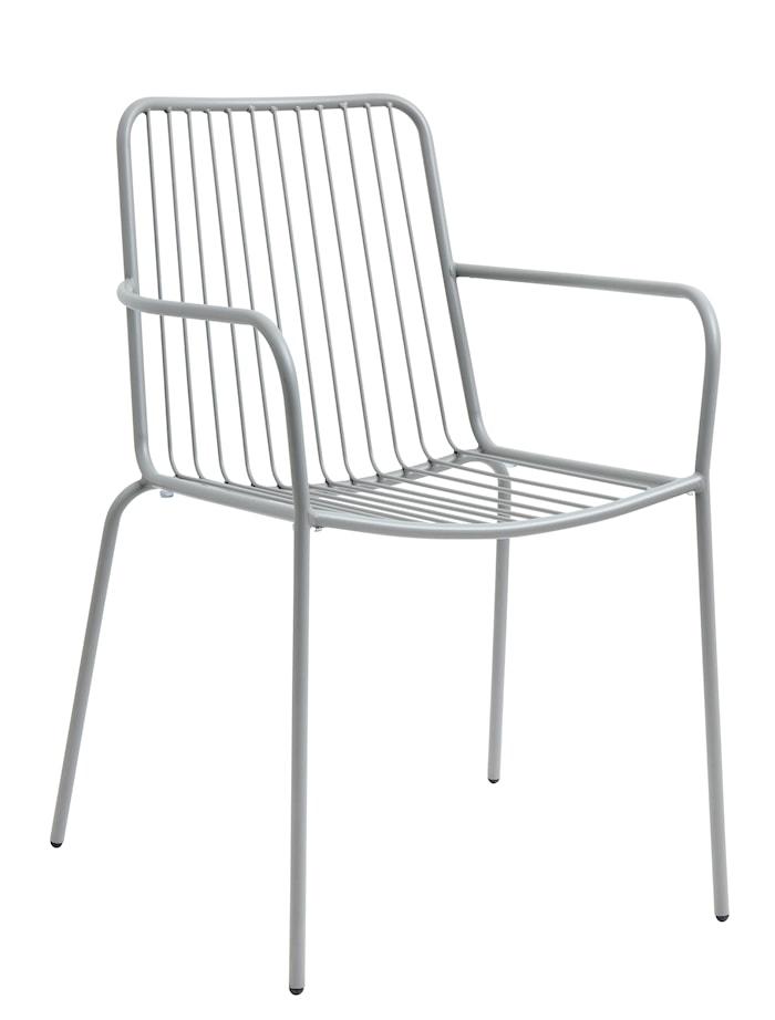 Trädgårdsstol med armstöd 83x55 cm - Grå