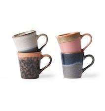 Ceramic 70's Espressokrus 4-pak