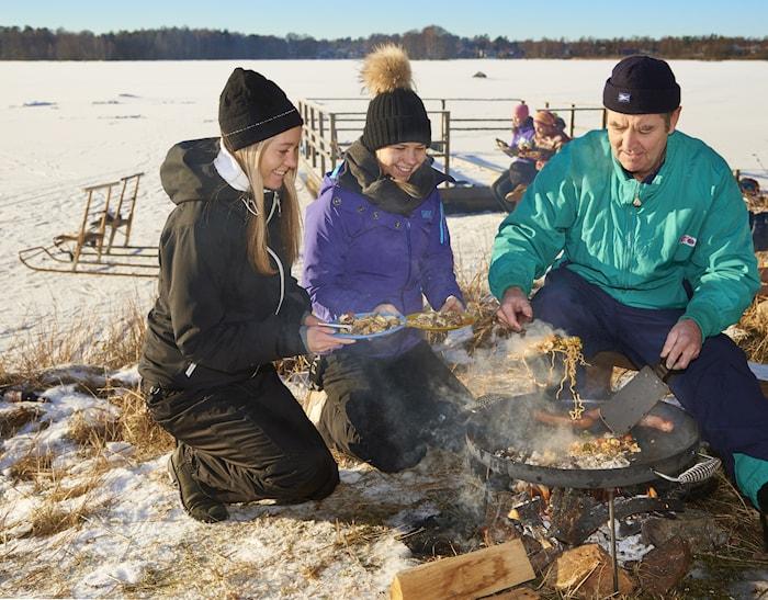 Plancha de cocina para exteriores Ø 51 cm