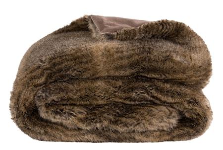 Leia Stripe Brown Pläd 127x150