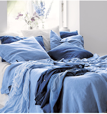 Lovely linen putetrekk – Dusty blue, 70x90