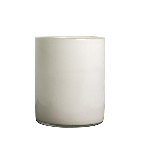 Vase/Fyrfadsholder Calore Hvid h: 24 cm