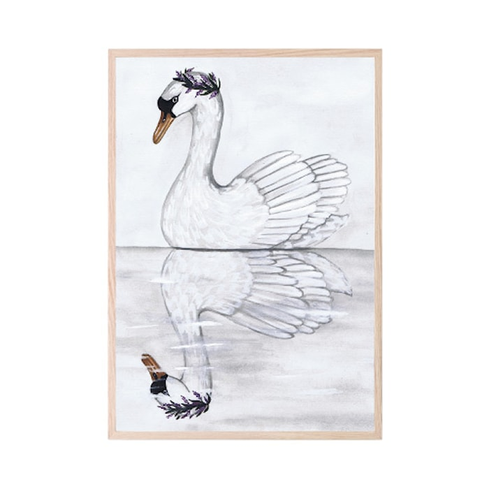 Poster Swan Reflection 21x30cm