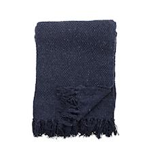 Decke Blau Recycelte Baumwolle