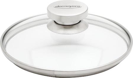 Lock 20 cm glas med stålknopp