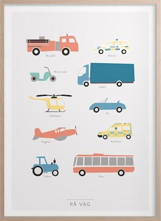 På väg Poster 30x40 cm
