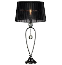 Christinehof Bordlampe Sort/Krom