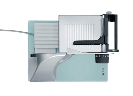 Classic Påleggsmaskin med Glassbunn og Glatt Knivblad